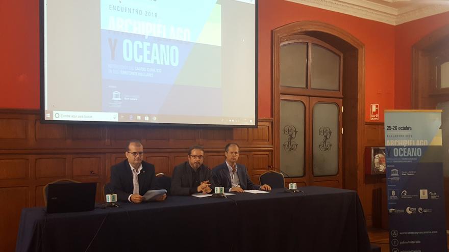Presentación del encuentro de expertos sobre el impacto del cambio climático en los territorios insulares.