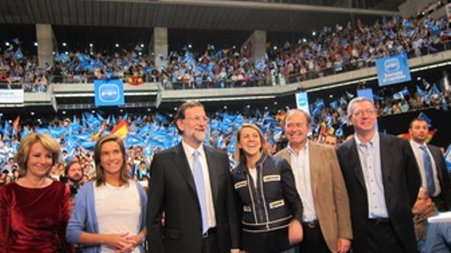 Aguirre en el acto de Cierre de Campaña En Madrid