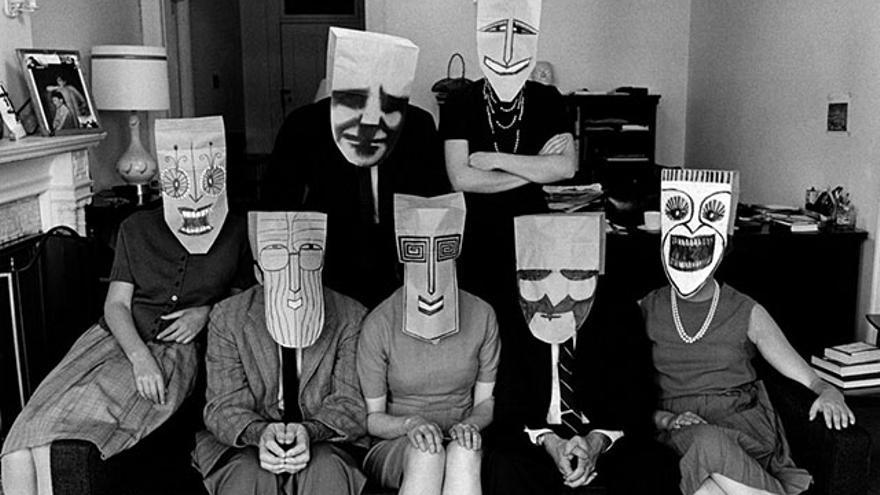 """The Mask Series with Saul Steinberg"". Inge Morath"