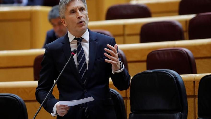 El ministro del Interior en una sesión pasada de control al Gobierno en el Senado