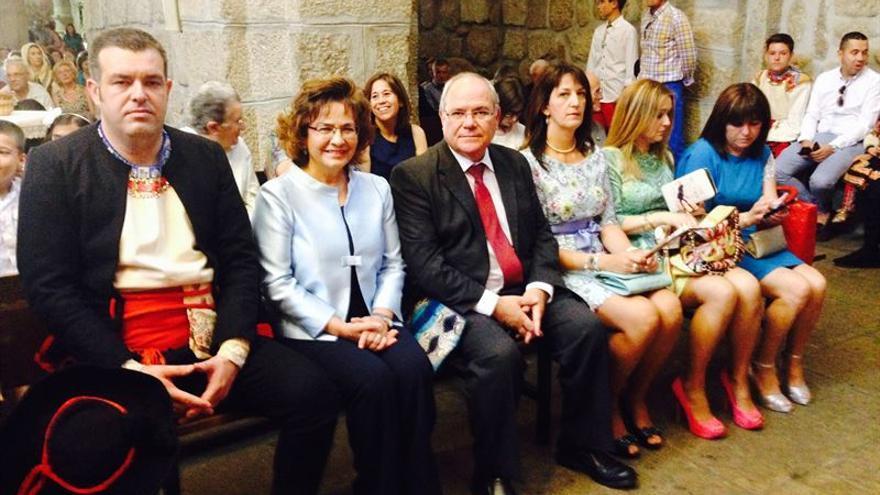 Carmen Riolobos, en el Corpus de Lagartera / Foto: Europa Press