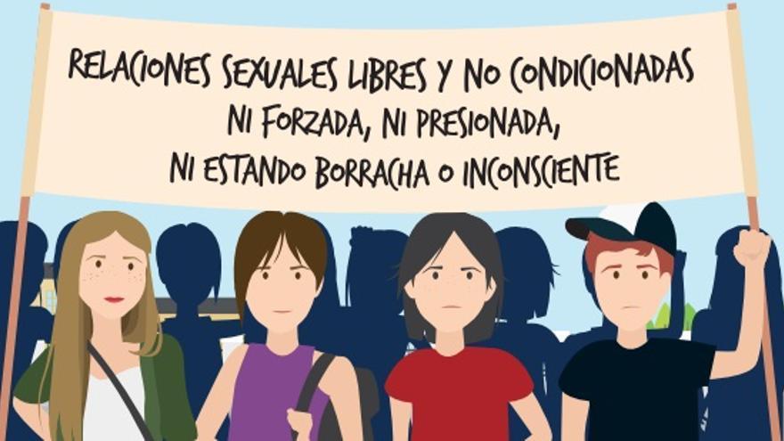 Campaña contra la 'violación en cita'