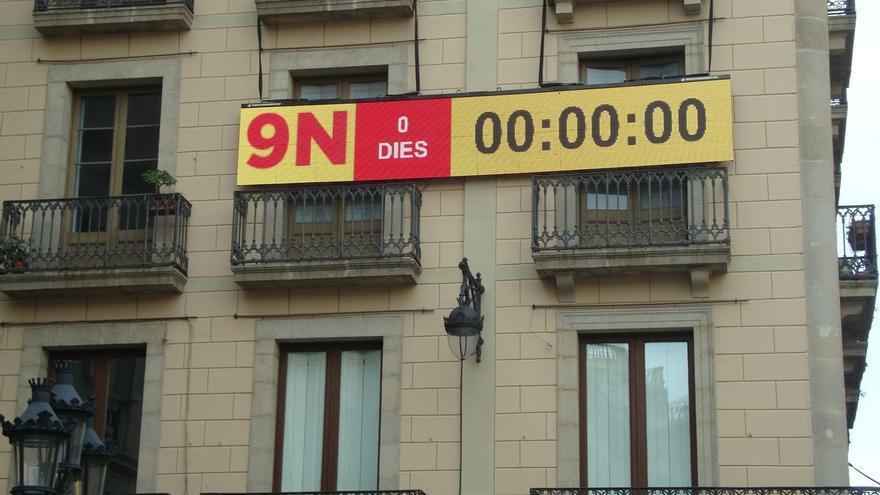 El marcador de la plaza Sant Jaume finaliza su cuenta atrás