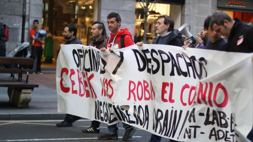 Una de las manifestaciones celebradas por los trabajadores del sector en este último año.