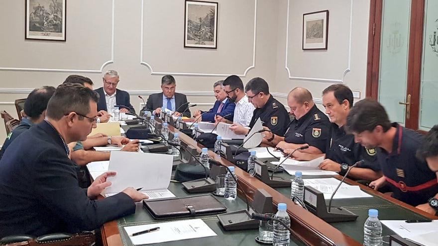Imagen de la Junta Local de Seguridad de València de cara al 9 d'Octubre