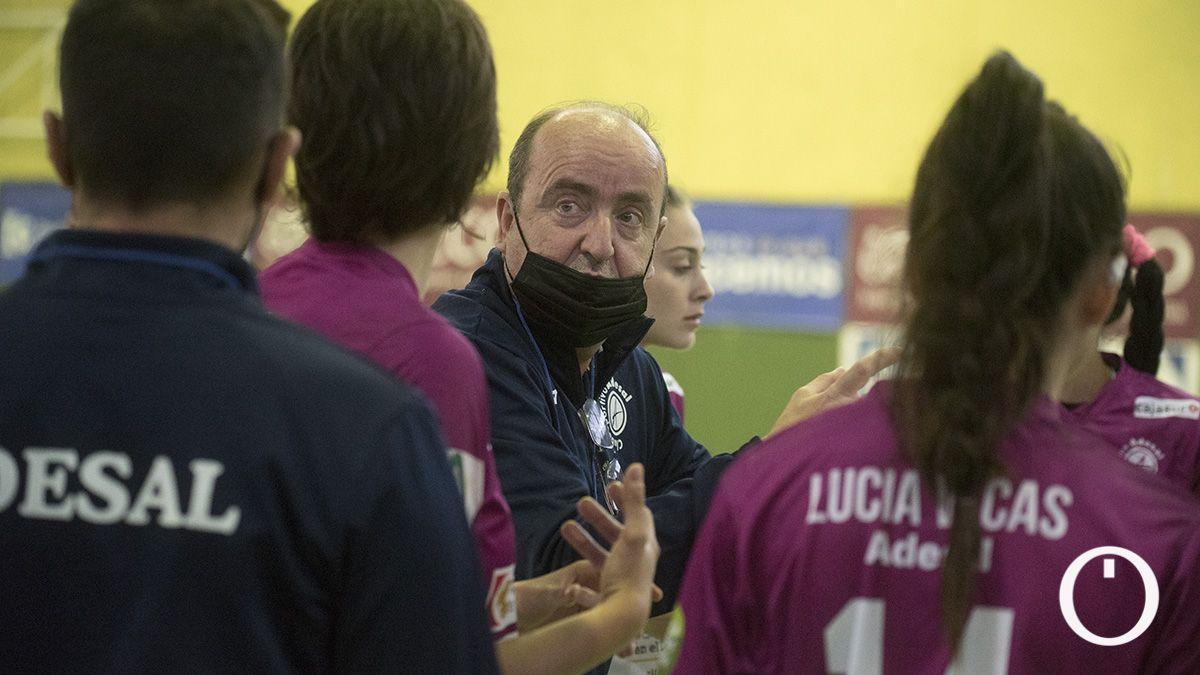 Rafa Moreno, en un partido del Adesal