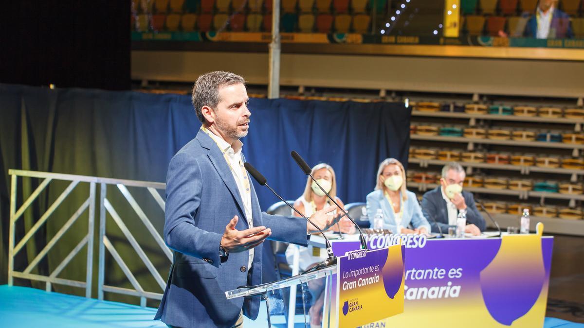 Lucas Bravo de Laguna en el congreso de Unidos por Gran Canaria. (ACFI PRESS)