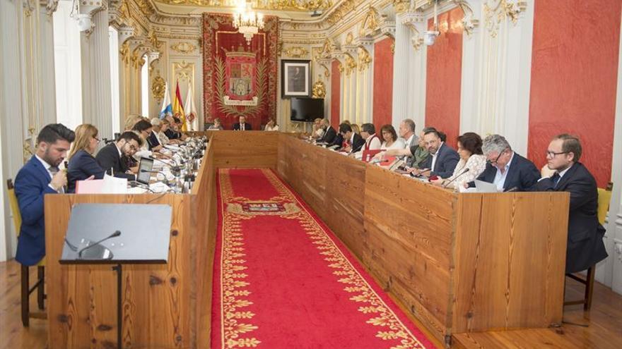 Pleno del Ayuntamiento de Las Palmas de Gran Canaria.
