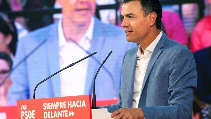 """Sánchez peina Galicia para repetir el éxito del 28A y """"frenar a las derechas"""""""