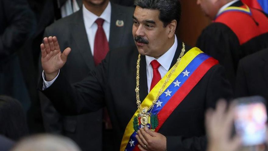 Nicolás Maduro a su llegada a la ceremonia de apertura del año judicial en Caracas.