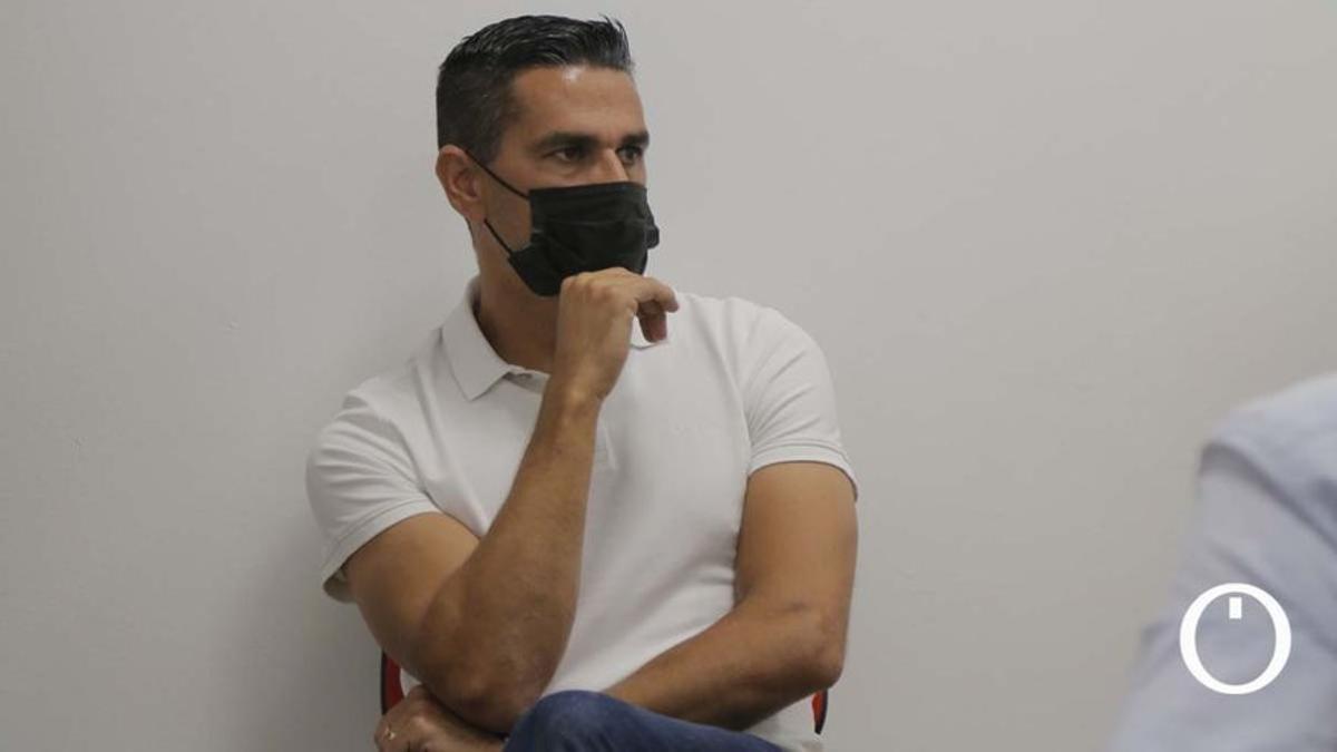 Juanito, en un acto del Córdoba