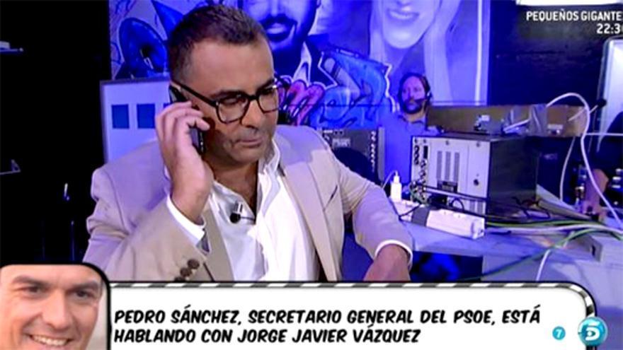 Pedro Sánchez llama en directo a 'Sálvame'