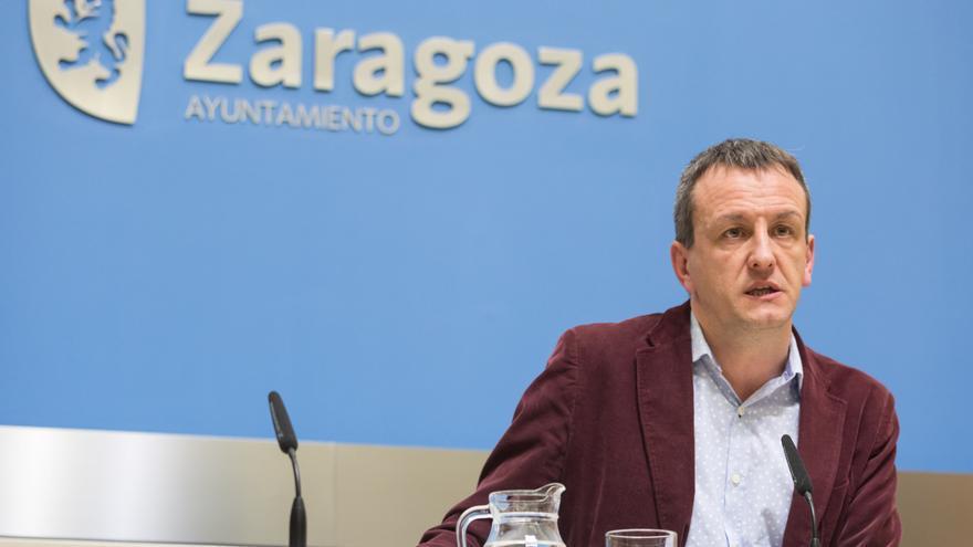 El portavoz de Zaragoza en Común, Fernando Rivarés, en una imagen de archivo