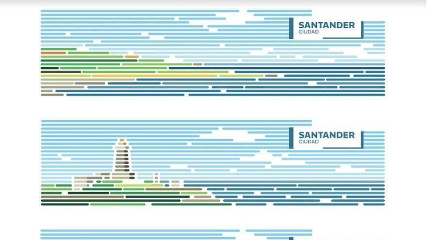 """Santander opta por una imagen """"digitalizada"""" de su Bahía y sus edificios emblemáticos como marca para """"venderse"""""""