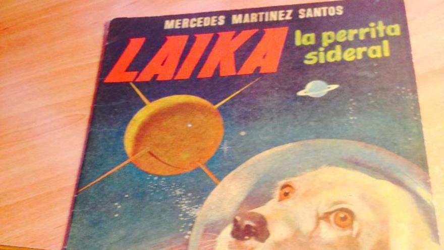 'Laika. La perrita sideral', deMercedes Martínez Santos con ilustraciones de Manuel Cuesta, fue publicado en 1957 en Madrid por Imprenta Pueyo