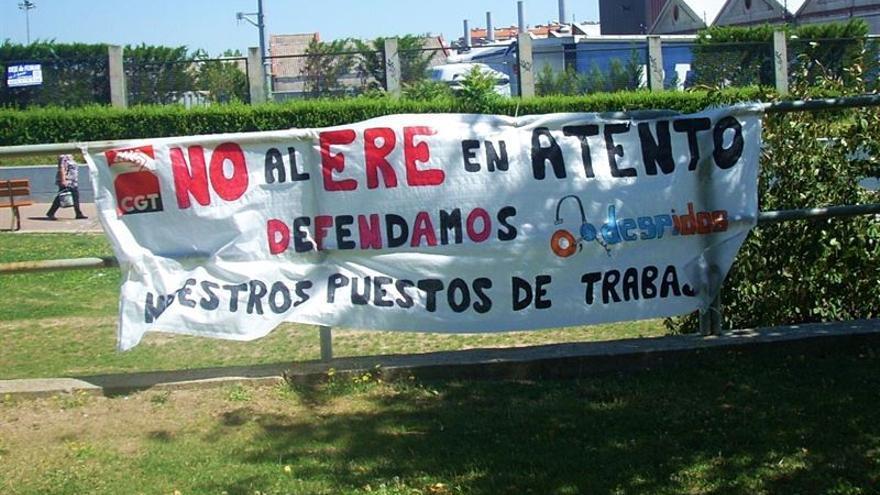 Protesta contra un ERE: