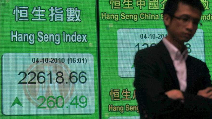 La Bolsa de Hong Kong pierde un 0,74 % a media sesión