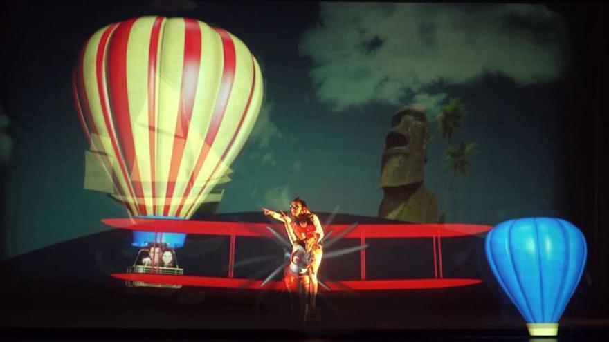 Fragmento de la obra 'Viaje al centro de la tierra (S. XXI)', de la compañía catalana Roseland Musical