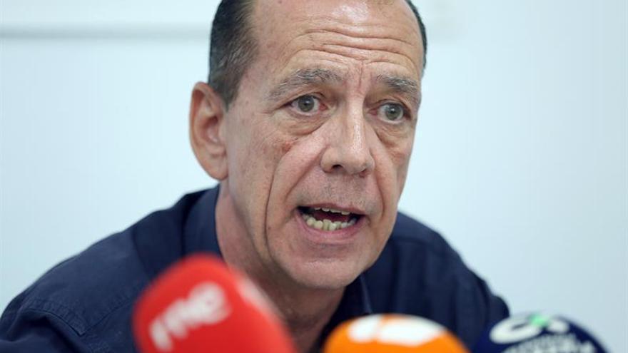 El secretario de comunicación de Sindicalistas de Base, Manuel Fitas. EFE/ Cristóbal García