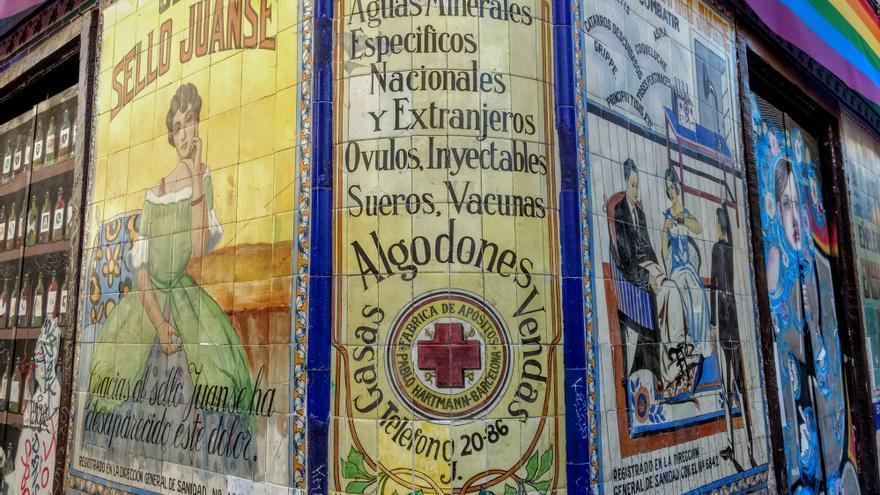 Fachada de la antigua Farmacia Juanse | SOMOS MALASAÑA