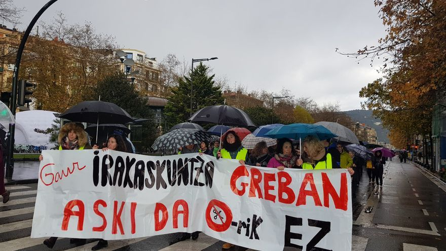 Movilización de los docentes de la red pública. Foto: ELA