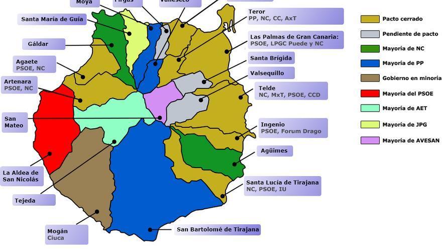 Mapa Municipios Gran Canaria.87 Ayuntamientos De Canarias Se Constituyen Este Sabado