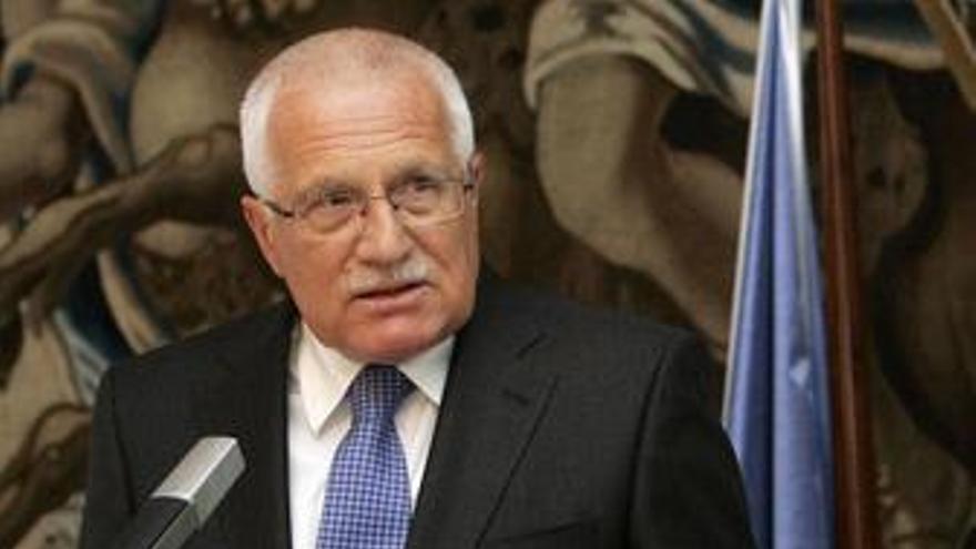Klaus dice que República Checa tiene que negociar una excepción