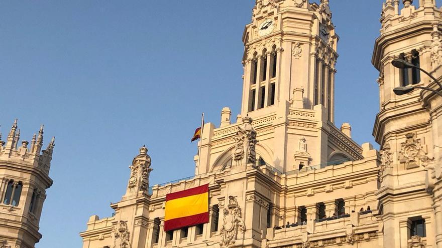 Fachada del Ayuntamiento de Madrid este 27 de junio.