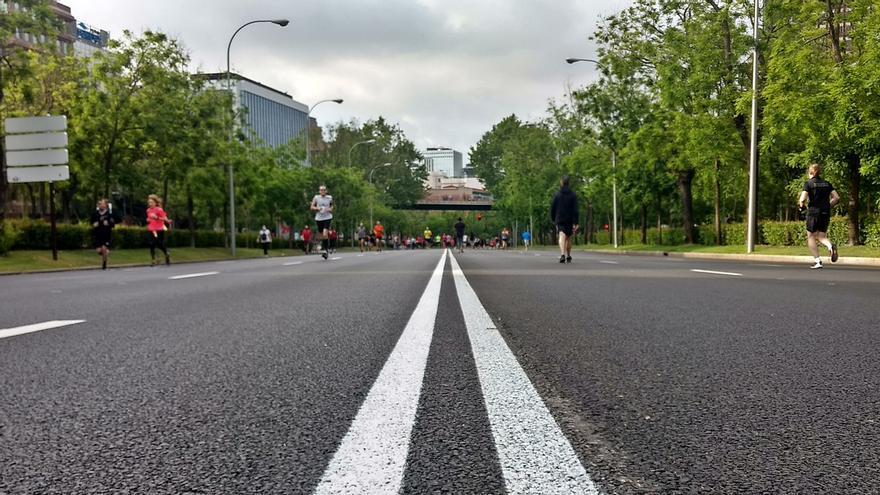 Vista del Paseo de la Castellana, peatonalizado | SOMOS CHAMBERÍ