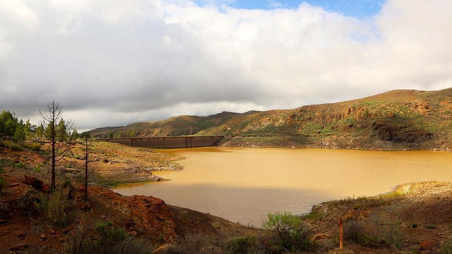 Presa de Chira, situada en la isla de Gran Canaria.
