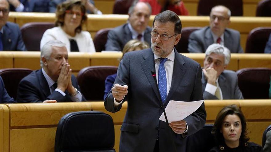 Rajoy habla hoy en el Senado de medidas contra el fraude fiscal en el fútbol