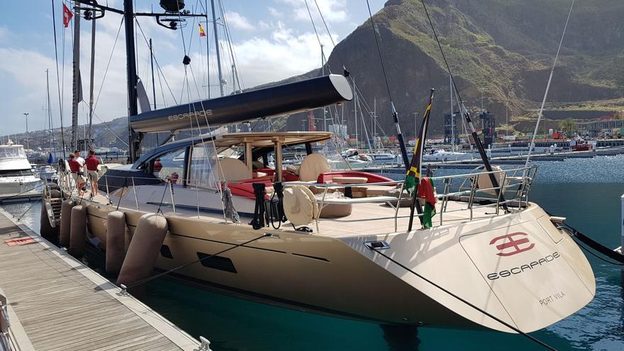 El velero 'Espapade', este martes, en Marina La Palma.