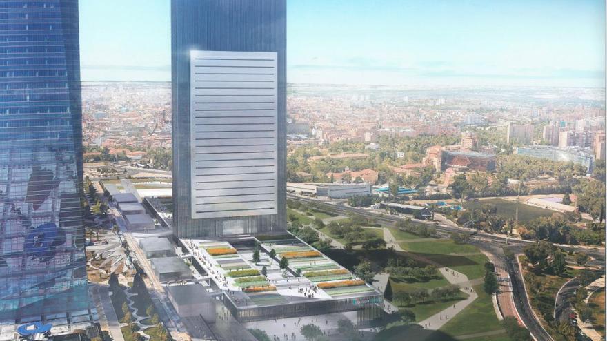 Imagen virtual del rascacielos Caleido en Madrid