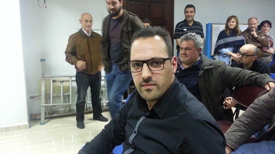 Jonathan Felipe, este viernes, en la asamblea de CC donde ha sido elegido candidato a la Alcaldía de Breña Alta.