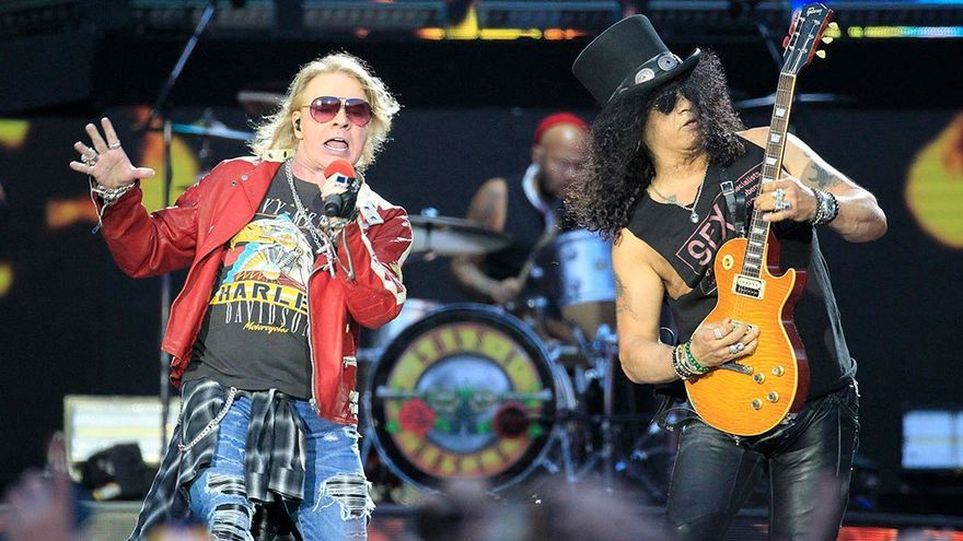 Guns and Roses en su gira europea de 2018.