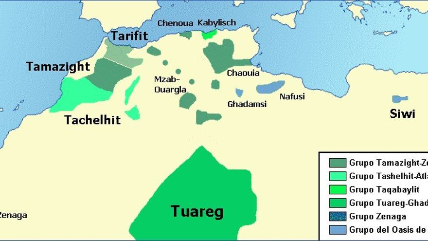 La lengua de los bereberes del norte de África está desintegrada por el predomino del árabe