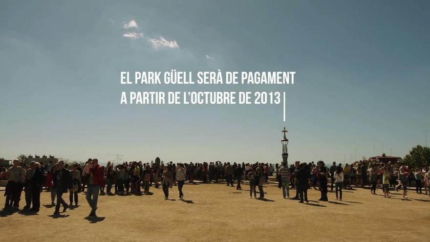 """Captura de pantalla del documental """"Dret a Gaudí(r)"""", contra el nou accés de pagament que prepara l'Ajuntament de Barcelona per al Park Güell"""