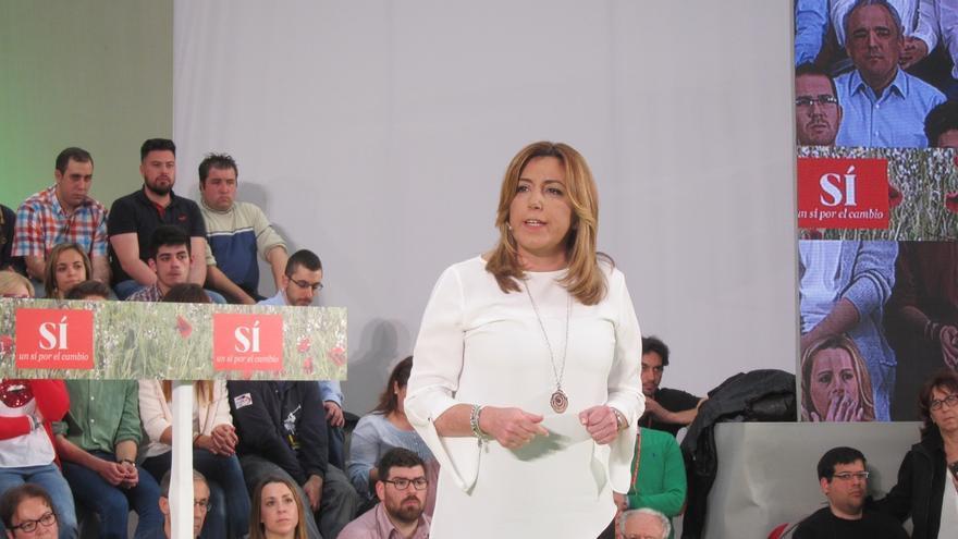 """Susana Díaz: """"España se merece un gobierno con sensibilidad y con Pedro Sánchez al frente"""""""