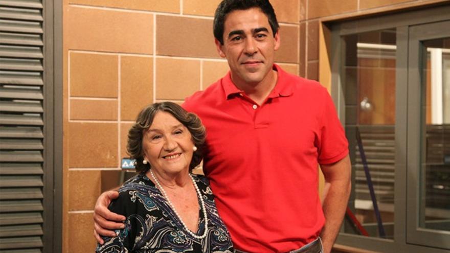 Pablo Chiapella, Amador en 'LQSA', 'triste' por el fallecimiento de su 'madre ficticia' Amparo Valle