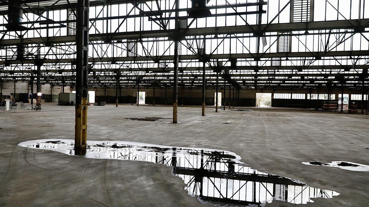 La nave principal de la antigua fábrica Mercedes-Benz