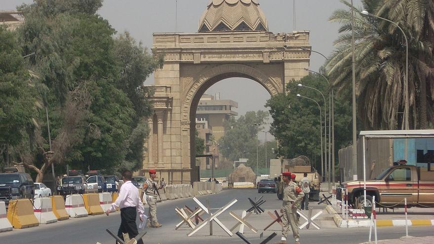 La Puerta de los Asesinos, la entrada a la Zona Verde de Bagdad. Foto: John Crockett, CC