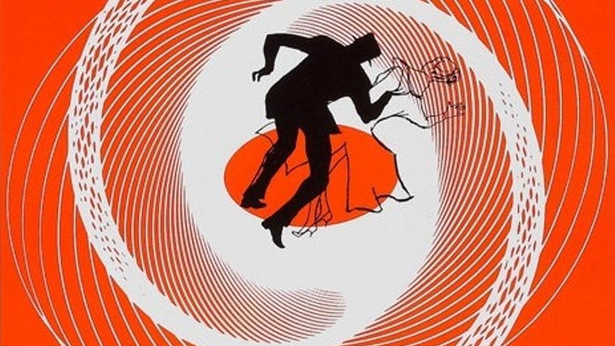 Ilustración de Saul Bass para Vértigo (1958) de Alfred Hitchcock