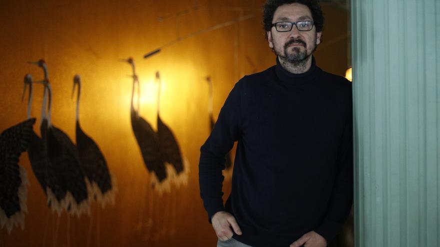 El escritor David Foenkinos durante su visita a Madrid para presentar su nueva novela.