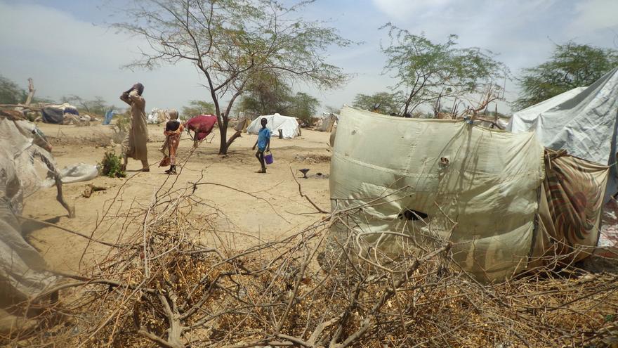 El campo Yebbi, en Bosso, región de Diffa (Níger). La mayoría de los desplazados por la violencia están en dos campos, uno en Bosso y otro en Nguigmi, dos localidades cercanas al río Chad.  | Foto: Médicos Sin Fronteras.
