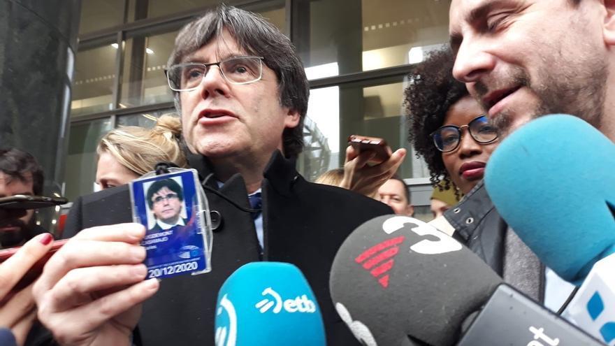 Cs pide a la JEP que Puigdemont y Comín dejen el acta del Parlamento catalán al ser eurodiputados