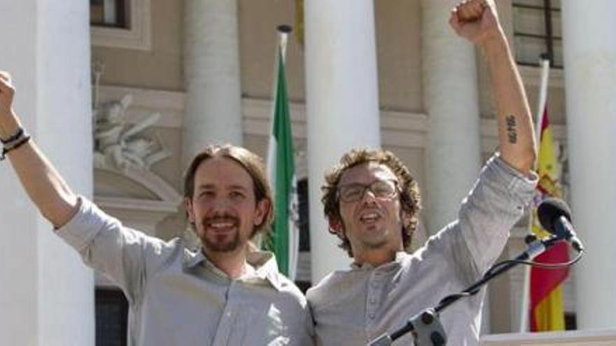 Pablo Iglesias y José María González, 'Kichi'