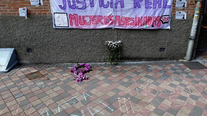 Concentración de protesta ante un caso de violencia machista.