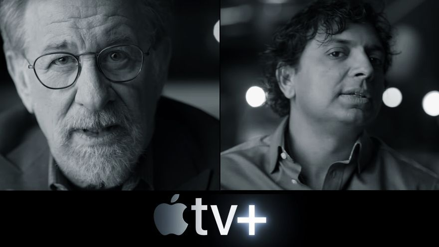 Steven Spielberg y M. Night Shyamalan, en el vídeo de Apple TV+