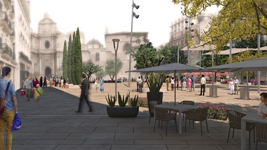 Imagen virtual de la plaza de la Reina