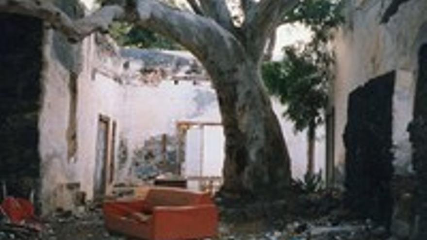 La casa que luego dio lugar a una inmensa bodega.